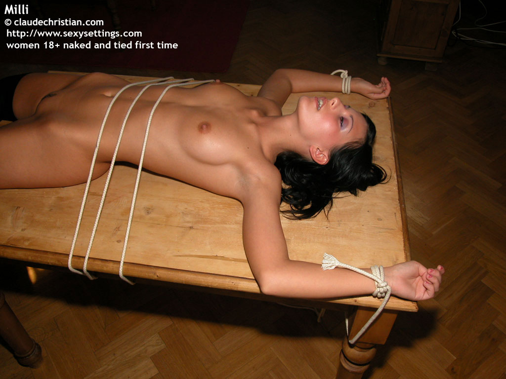 nude tied up an flashlight fucked