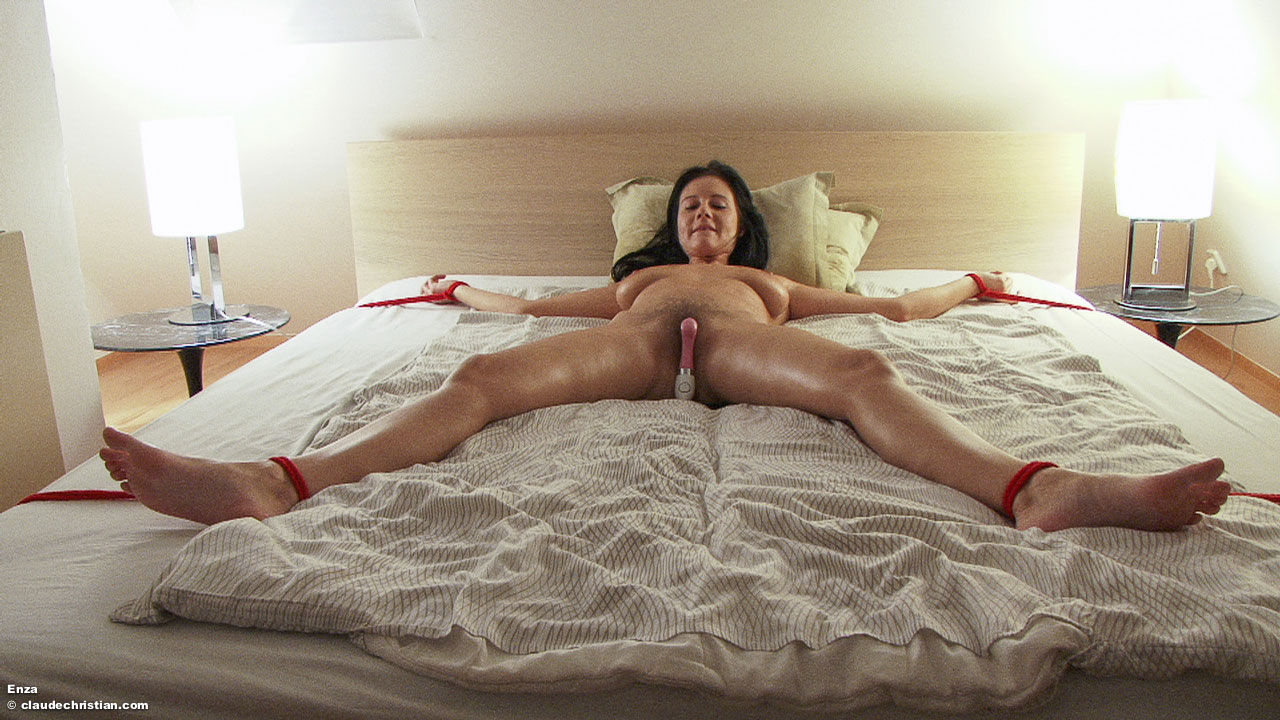 Naked women tied up