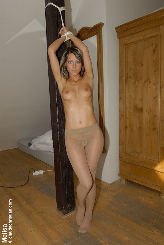 up Women in pantyhose tied