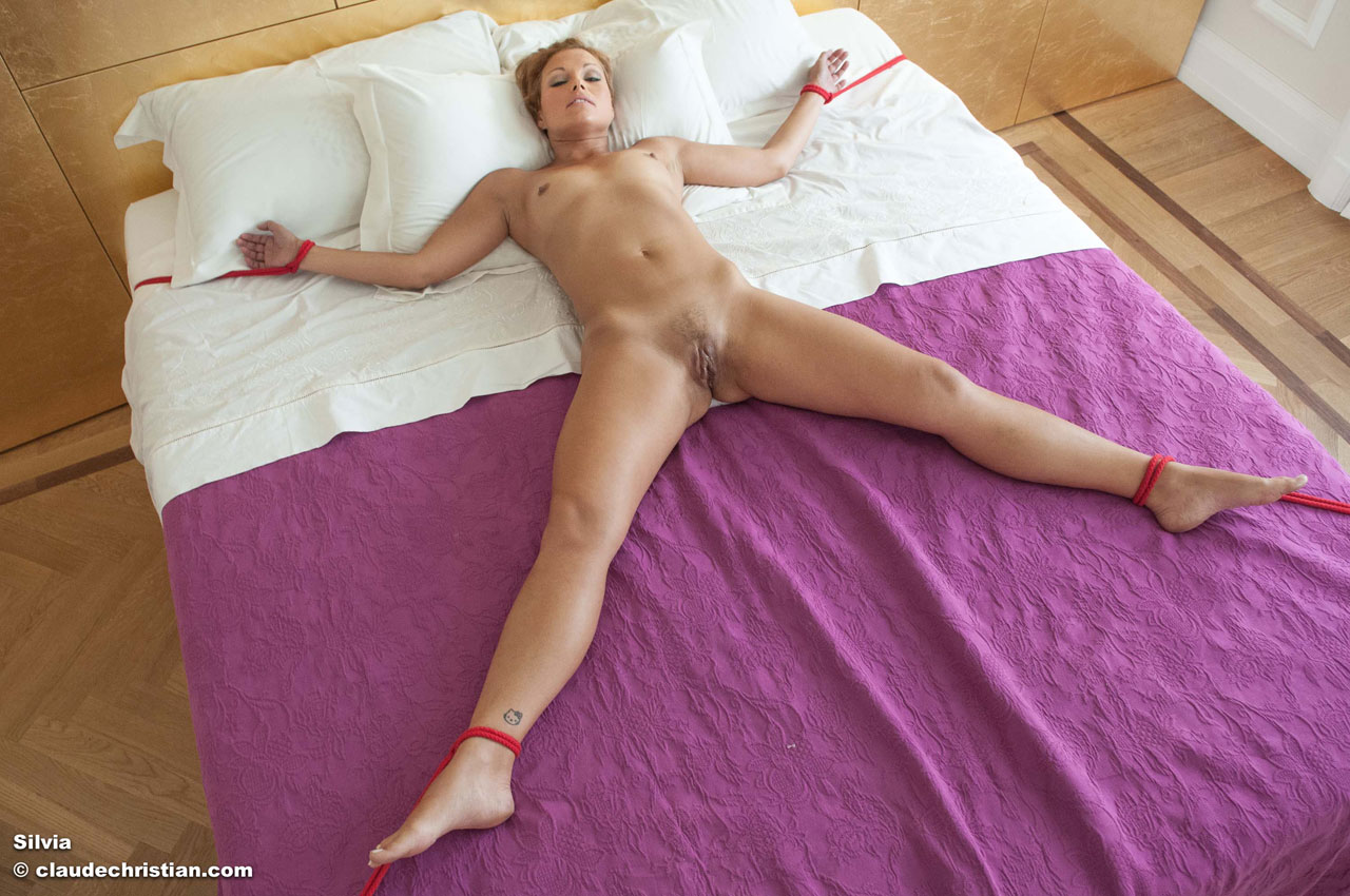 tied bed naked